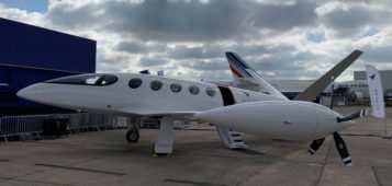 First electric airplane has interior design from portuguese company